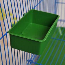 Bird Feeder Plastic Food Feeding Box With Clip Parrot Parakeet Food Water Dish