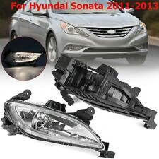 For 2011-2013 Hyundai Sonata Pair Front Bumper Clear Fog Light Lamps w/ Bulbs