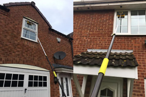 4M Window Cleaning Pole, Window Cleaner Equipment, Hose Fed Cleaning Brush