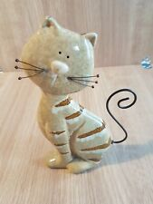 Cat Ornament Figurine Collectable Rare Vintage Metal