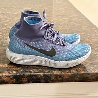 Nike LunarEpic Flyknit Blue Men's Athletic Running Shoes Sneakers Size 6.5 US