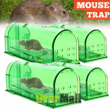 2/4x Mouse Trap Case Rat Catcher Mice Cage Pest Humane Large Live Rodent Control
