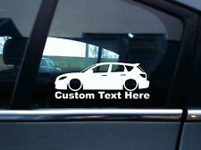2x Custom YOUR TEXT lowered car sticker -for Mazda 3 Mazdaspeed MPS | BK 1st gen