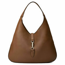 ec4aba728 Gucci Brown Jackie Soft Pebbled Leather Brown Hobo Hand Bag 362968