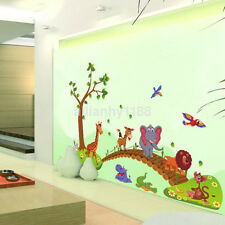 Zoo Animals Colorful Wall Sticker Decal For Kids Nursery Baby Room US