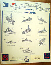 PLAQUE PUBLICITAIRE VINTAGE MARINE NATIONALE SHIP ADVERTISING PLATE FRANCE