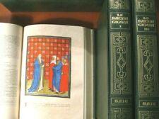 LA SACRA BIBBIA-3 volumi-Saie- illustrata con miniature e riproduz.-1980