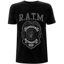 Rage Against The Machine 'Grey Police Badge' (Black) T-Shirt - NEW