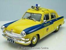 GAZ VOLGA M21 POLICE CAR 1/43RD SCALE MODEL YELLOW/BLUE COLOUR EXAMPLE T3412Z(=)