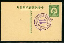 North China 1933 Japanese Occupation SYS Postcard Commemorative CDS S43 ⭐⭐⭐⭐⭐