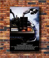 W261 Art Back To The Future DeLorean Movie -20x30 24x36in Poster - Hot Gift