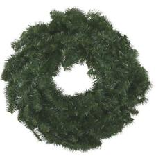 "12 Pk Canadian Pine 24"" Green PVC Artificial Christmas Door Wall Wreath 442000"