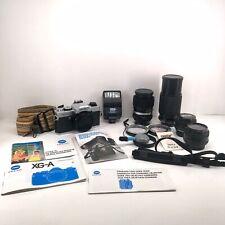 Minolta Xga Slr 35mm Film Camera Super Bundle! 4 Lenses Case Accessories Vcg