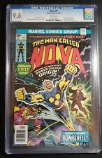 NOVA 1 CGC 9.6 NM+ WHITE PAGES ORIGIN AND FIRST APPEARANCE OF RICHARD RIDER