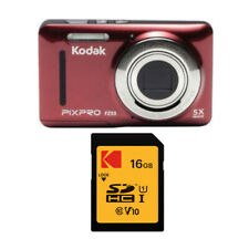 KODAK PIXPRO Friendly Zoom FZ53 (Red) w/ 32GB SD Card and Case Bundle