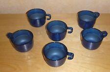 Tupperware Eleganzia - 6 Tassen - Bowletassen - 6 x 150 ml - blau - NEU
