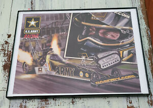 Authentic Tony Schumacher Army NHRA Racing Autographed Framed Art 11 * 9