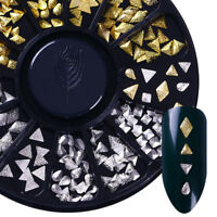 Nagel Schmuck Dreieck Form Gold/Silber im Rondell Nagel 3D Dekoration DIY