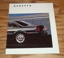 Original 1988 Chevrolet Beretta Sales Brochure 88 Chevy
