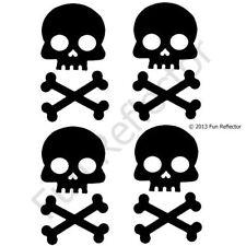 Skull and Cross Bones Black X bones Bicycle Reflective Stickers Decals