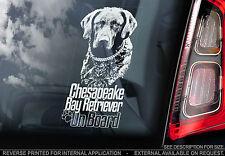 Chesapeake Bay Retriever - Car Window Sticker - Chessie CBR Dog Retreiver Gundog