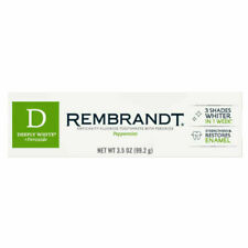 Rembrandt Deeply White + Peroxide Whitening Toothpaste, Peppermint - 3.5oz