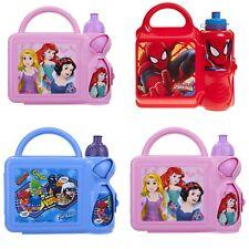 Childrens Kids Lunch Set Bag Box With Bottle For Boys Girls School
