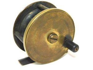 Vintage Brass Fly Reel Made in England