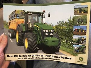 John Deere 7730 7830 7930 tractor brochure leaflet UK Europe market