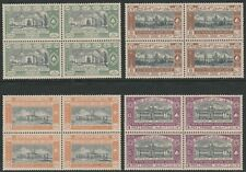 Hyderabad 1937 Silver Jubilee set in blocks of four SG 49-52 Mnh.