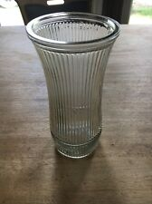 "Vintage 8.5"" Hoosier Glass Ribbed Flower Vase 4088 - 8"