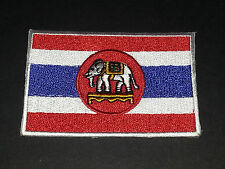 NATIONAL WORLD COUNTRY EMBROIDERED FLAG SEW/IRON ON PATCH:- THAILAND ELEPHANT