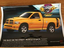 2005 DODGE RAM HEMI RUMBLE BEE LIMITED PRODUCTION TRUCK 12X18 IN PHOTO POSTER