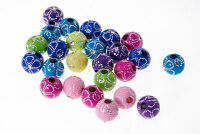Lot 10 - 20 pieces Perle Fleur 10mm, Creation bijoux, Bracelet, Attache tetine..
