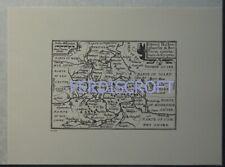 c1605 - Van Den Keere Map of Buckingham, Oxford & Berkshire, England -Repro 1972
