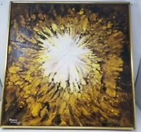 Original Oil On Canvas - Frank Walcutt - 1972 Signed And Dated Abstract
