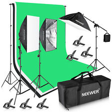 Neewer Studio 8.5x10ft 2400w Background Support System W/ Backdrop Lighting Kit