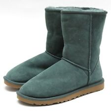 Women's Sz 5/6 UGG Australia Classic Short Sheepskin Boots Winter Green NEW 5825