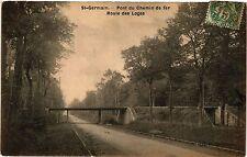 CPA   St-Germain - Pont du Chemin de fer - Route des Loges    (453229)