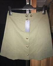 ❤️Tommy Hilfiger Skirt Size 10 New - Khaki A-line Military Style Suede ❤️