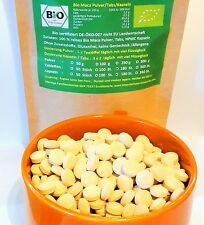 180 Bio Maca Tabs Tabletten Spitzenqualität aus roten, schwarzen, gelben Knollen