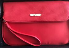 GIorgio Armani Beauty Red Fabric Foldable Wristlet Handbag Purse (New)