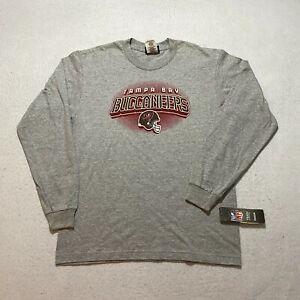 Vintage Reebok NFL Tampa Bay Buccaneers Long Sleeve T-Shirt Gray Youth Football