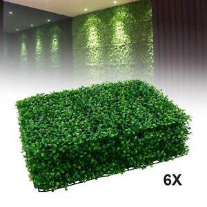 6x Plant Artificial Mat Greenery Wall Hedge Grass Fence Foliage Panel Decor