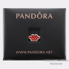 Authentic Pandora Silver Red Enamel Minnie Skirt Petite Charm 796519EN09