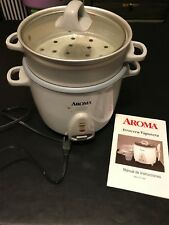 Aroma One Touch 7-Cup Rice Cooker & Food Steamer ARC-727-1NG