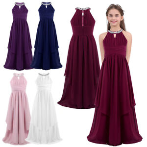 New Party Dresses For Teenage Girl Princess Wedding Bridesmaid Kids Clothes