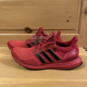 Adidas Men's UltraBoost 1.0 DNA Nebraska FY5806 Red Black Running Shoes Size 10