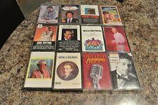 RARE LOT 12 CASSETTES     POP VOCALS   1950'S & 60'S    4 SEALED + 8    H54