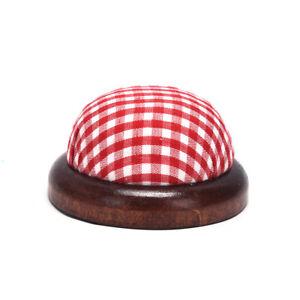 Wood Bottom Base Needle Pin Cushion Pillow Holder Sewing Craft StitchY TdJCA ZC